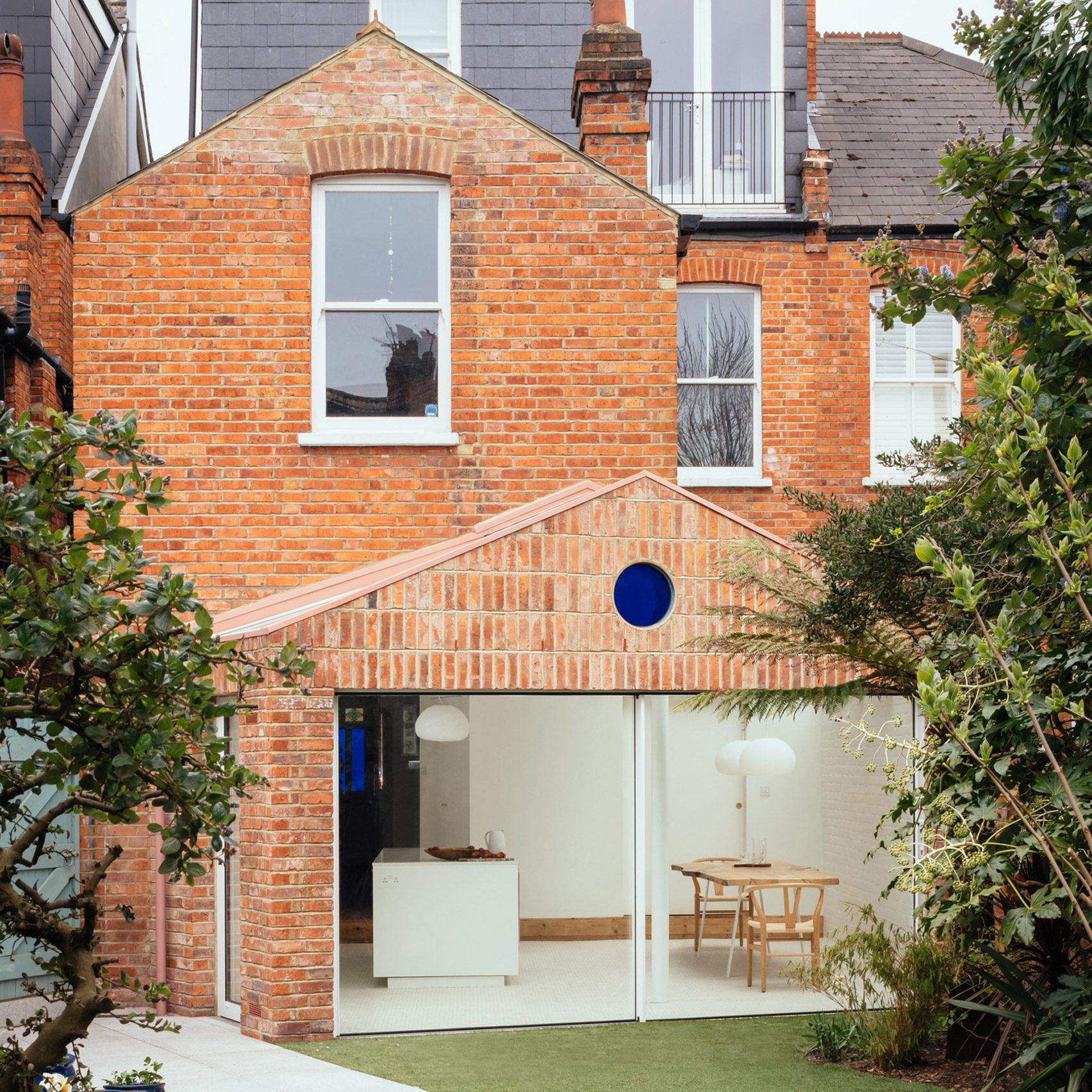 VATRAA adds brick-clad gabled extension to Victorian house in Camden