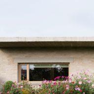 The brick exterior of House in Lanškroun