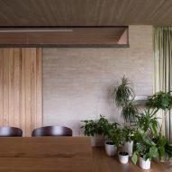 Brick-lined interiors