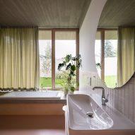 White-walled bathroom