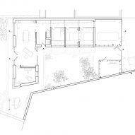Floor plan of House in Lanškroun by Martin Neruda