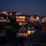 Houses on Cornish coast