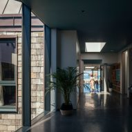 Corridor inside House with Courtyards