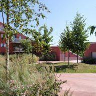 Courtyard at Ilot Queyries housing by MVRDV