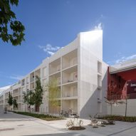 The exterior of Ilot Queyries housing by MVRDV