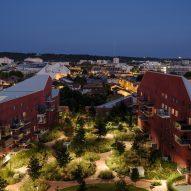 Aerial view of Ilot Queyries housing by MVRDV