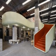 AIM Architecture adds slide-like staircase to Shanghai store In the Park