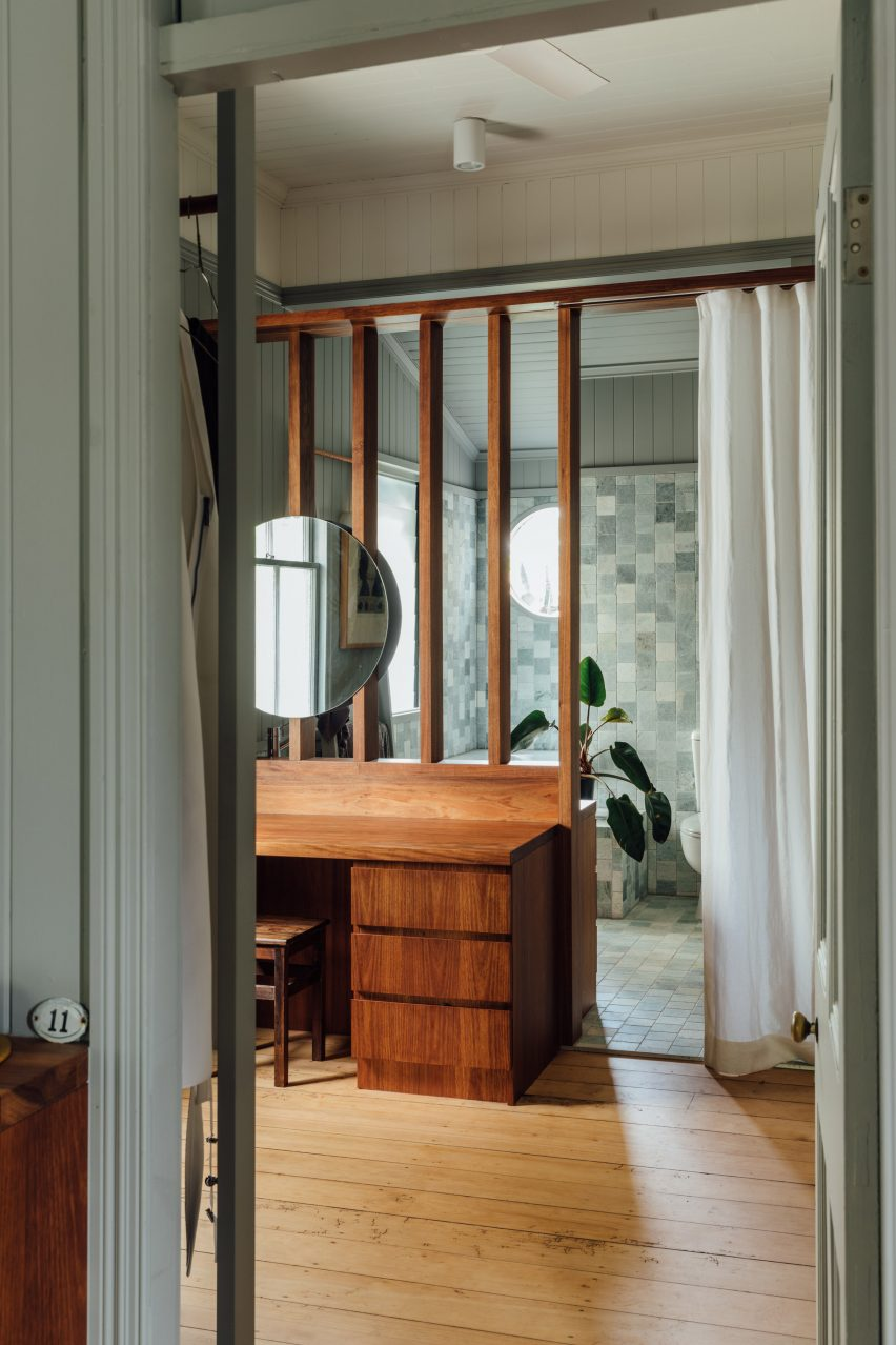 Bathroom with timber details