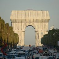 Christo and Jeanne-Claude's wrapped Arc de Triomphe nears completion in Paris