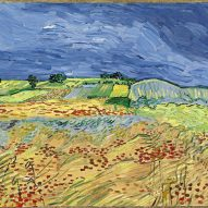 A landscape painting at the Laura Owens and Vincent van Gogh exhibition
