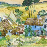 Painting of a village by Vincent van Gogh at the Laura Owens and Vincent van Gogh exhibition