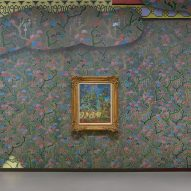 Laura Owens covers Vincent Van Gogh exhibition in colourful handmade painted wallpaper