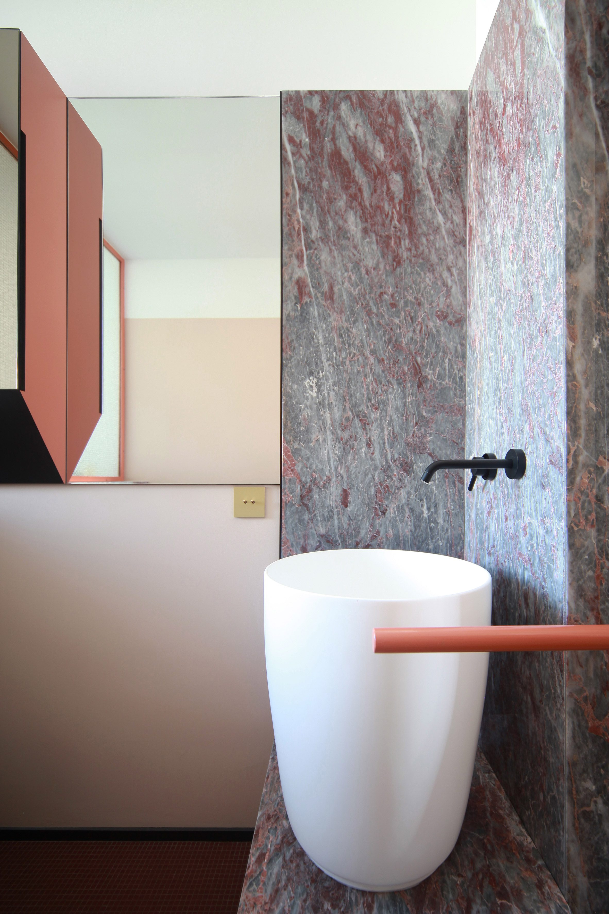 Salome marble tiles above a sink