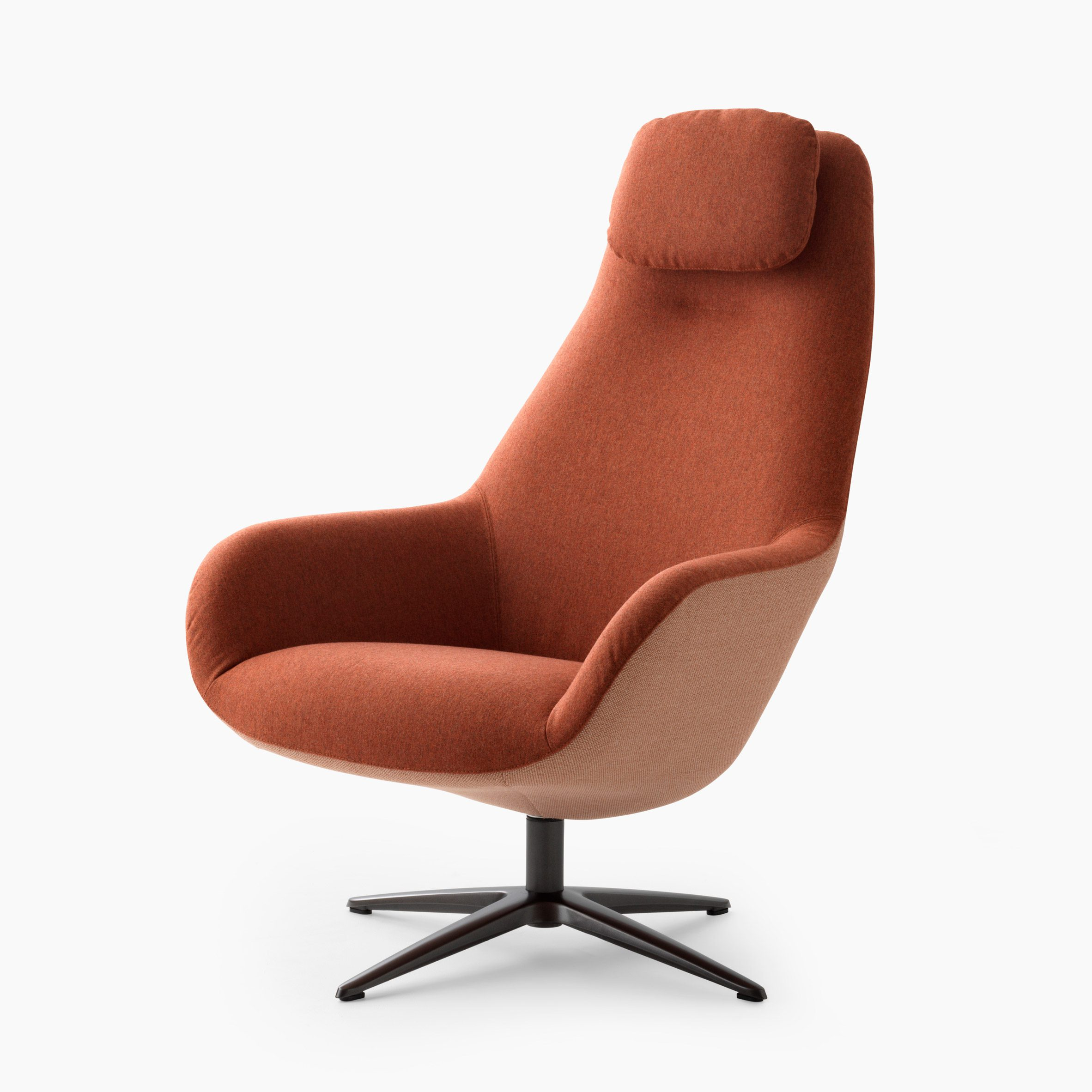 An orange high-backed LXR03 chair