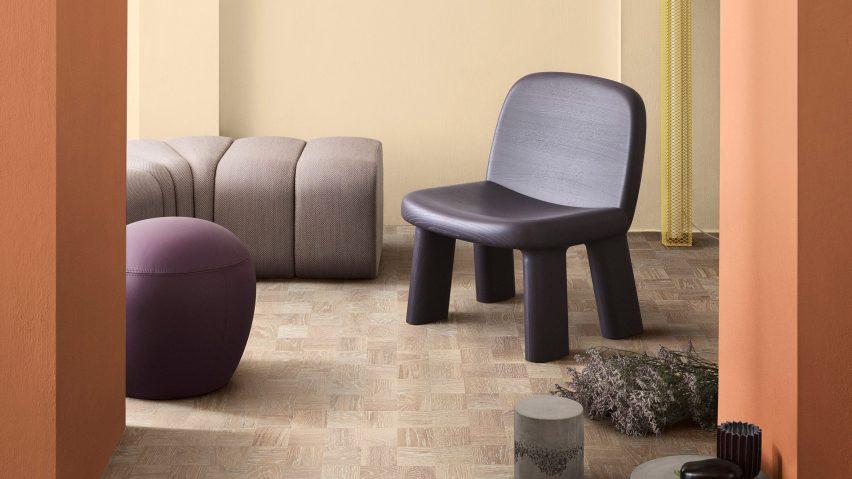 Maximus armchair by Johan Ansander for Bla Station