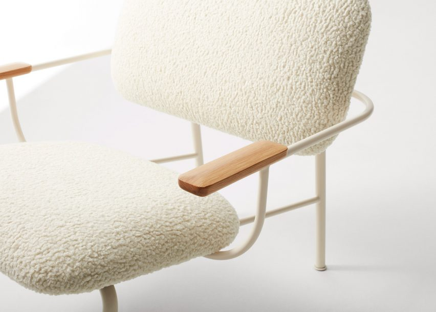 Method Lounge Chair by Blu Dot in shearling