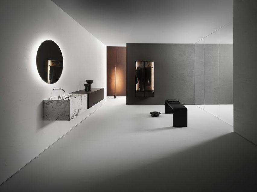 Фотография коллекции для ванных комнат Виктора Васильева для Falper