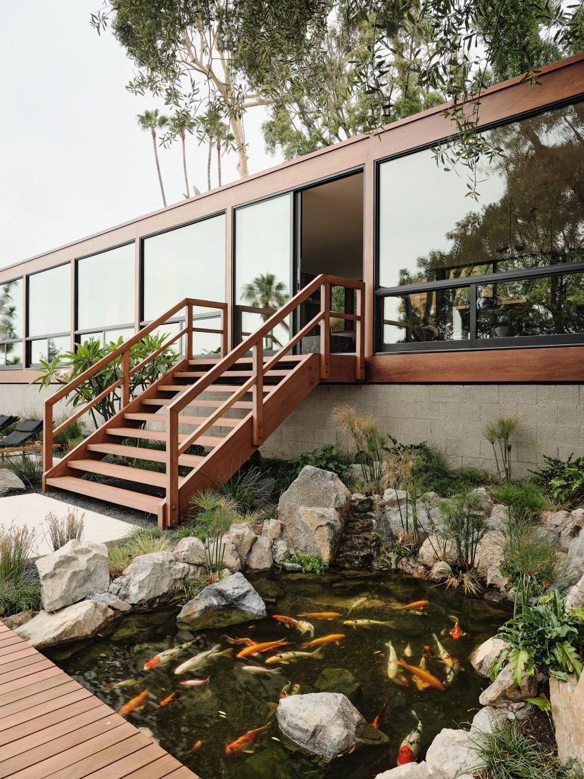 The home is an original 1960s California home by Craig Ellwood