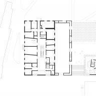 First floor plan of The Music School of Bressanone by Carlana Mezzalira Pentimalli