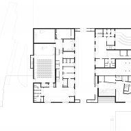 Ground floor plan of The Music School of Bressanone by Carlana Mezzalira Pentimalli