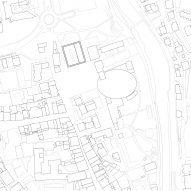 Site plan of The Music School of Bressanone by Carlana Mezzalira Pentimalli