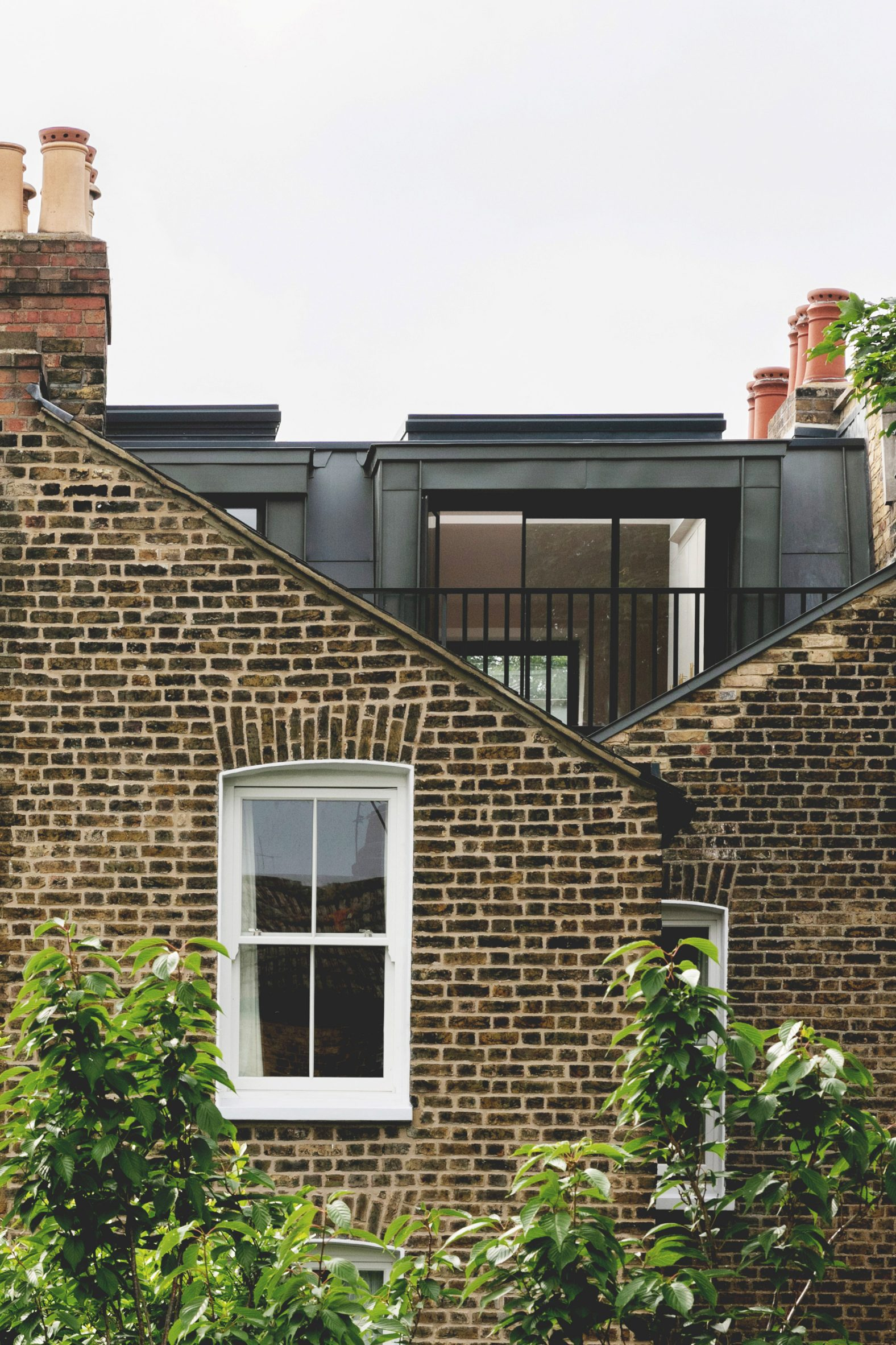 Exterior of Narford Road loft extension by Emil Eve Architects