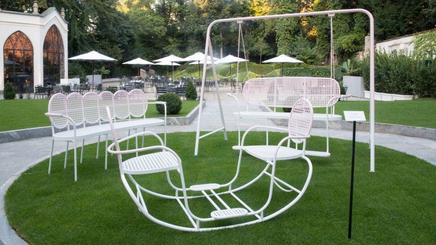 Sam Baron Dior Medallion chairs