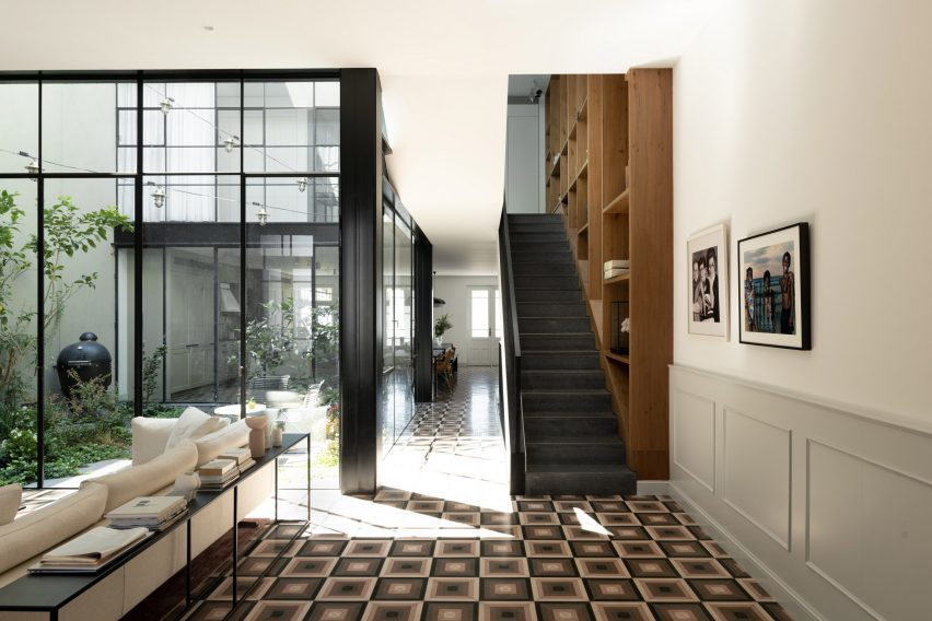 Staircase in Neve Tzedek Patio House by Meirav Galan