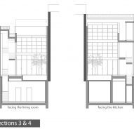 Sections three and four of Neve Tzedek Patio House by Meirav Galan