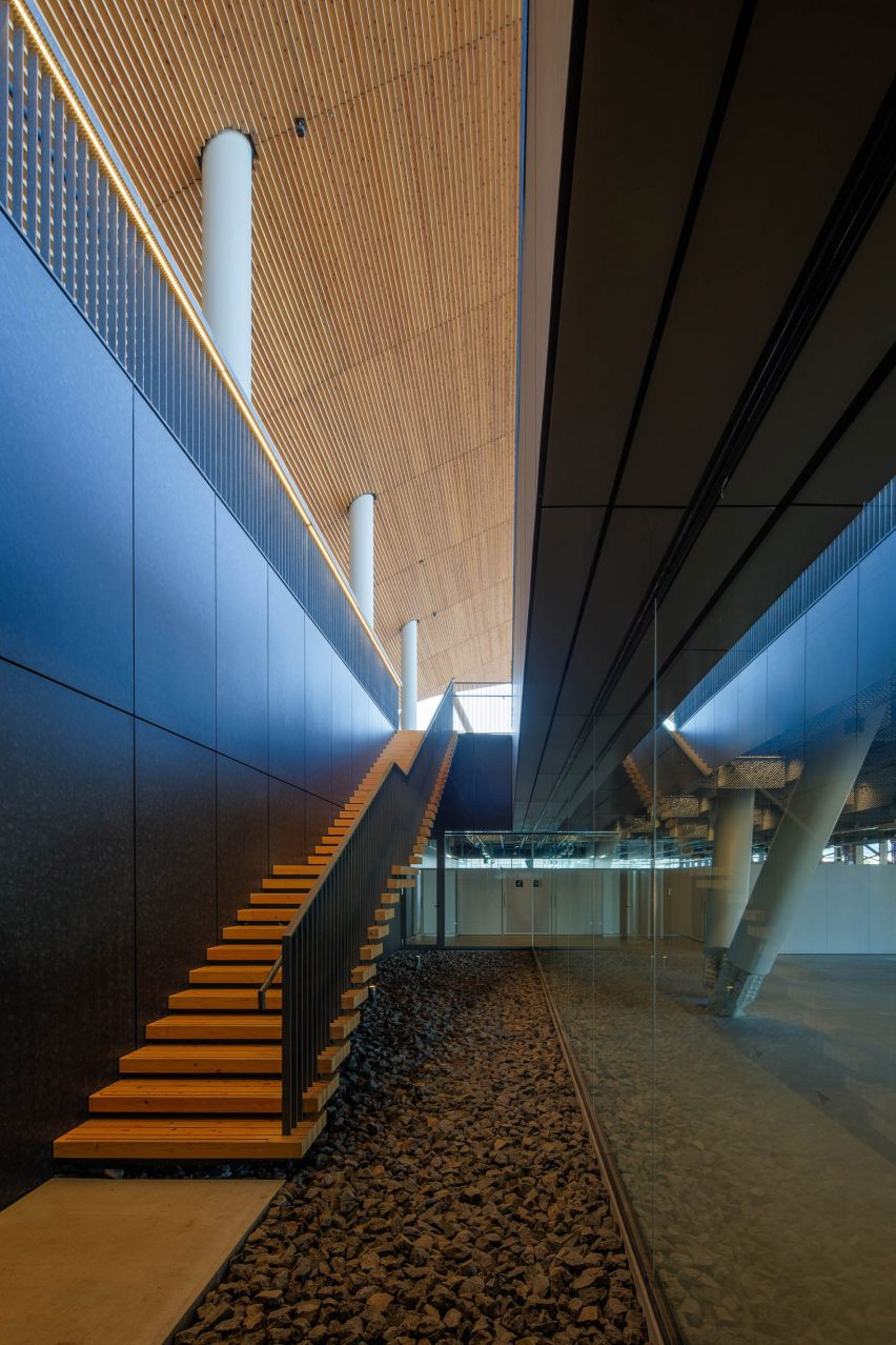 A corrugated steel roof covers the structure