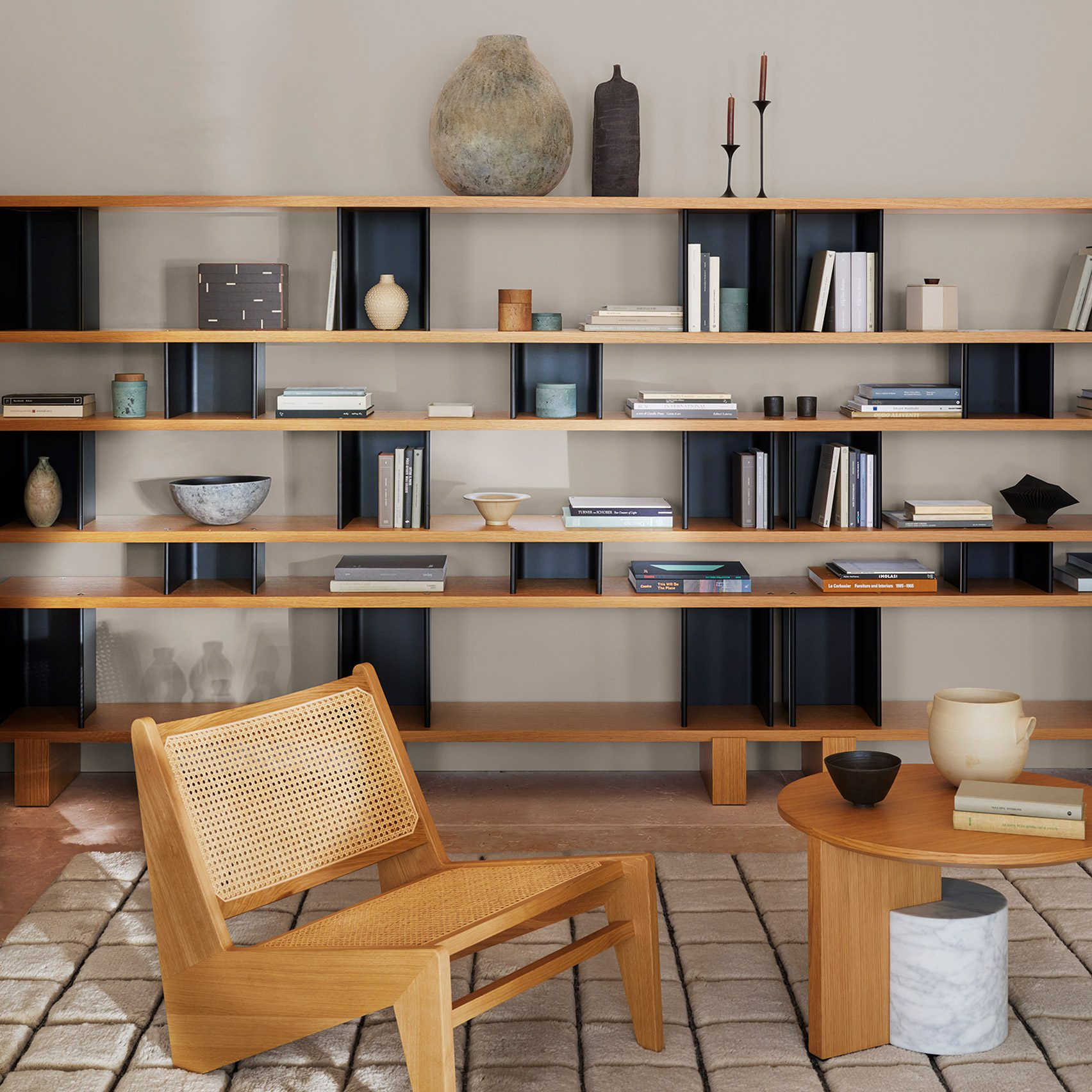 Nuage à Plots shelving system by Charlotte Perriand