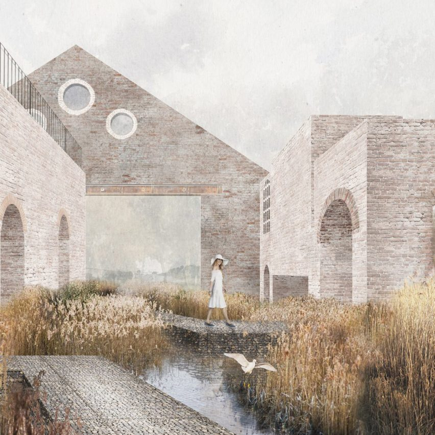 Architectural illustration by student from Cardiff University