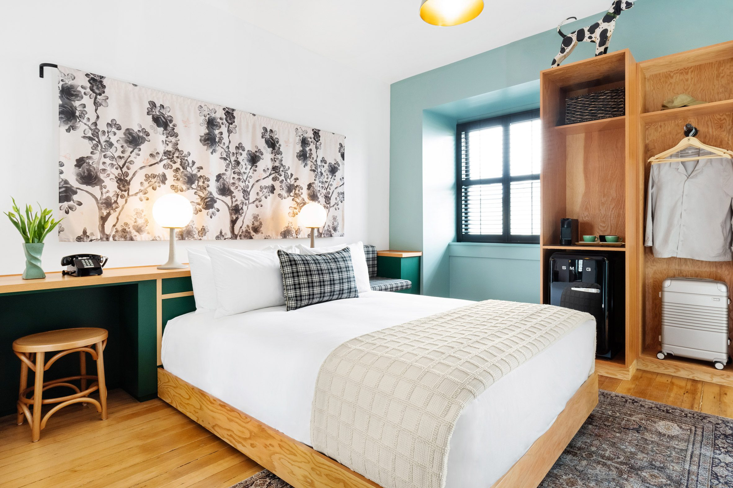 Palisociety and North45 added homely interiors to the hotel