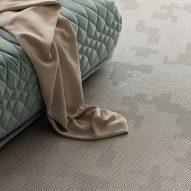 Grey Bolon flooring by Patricia Urquiola
