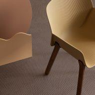 Yellow chairs on beige Bolon flooring