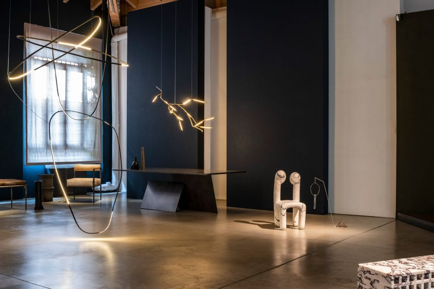 Overview of Galerie Philia exhibition dedicated to Rick Owens