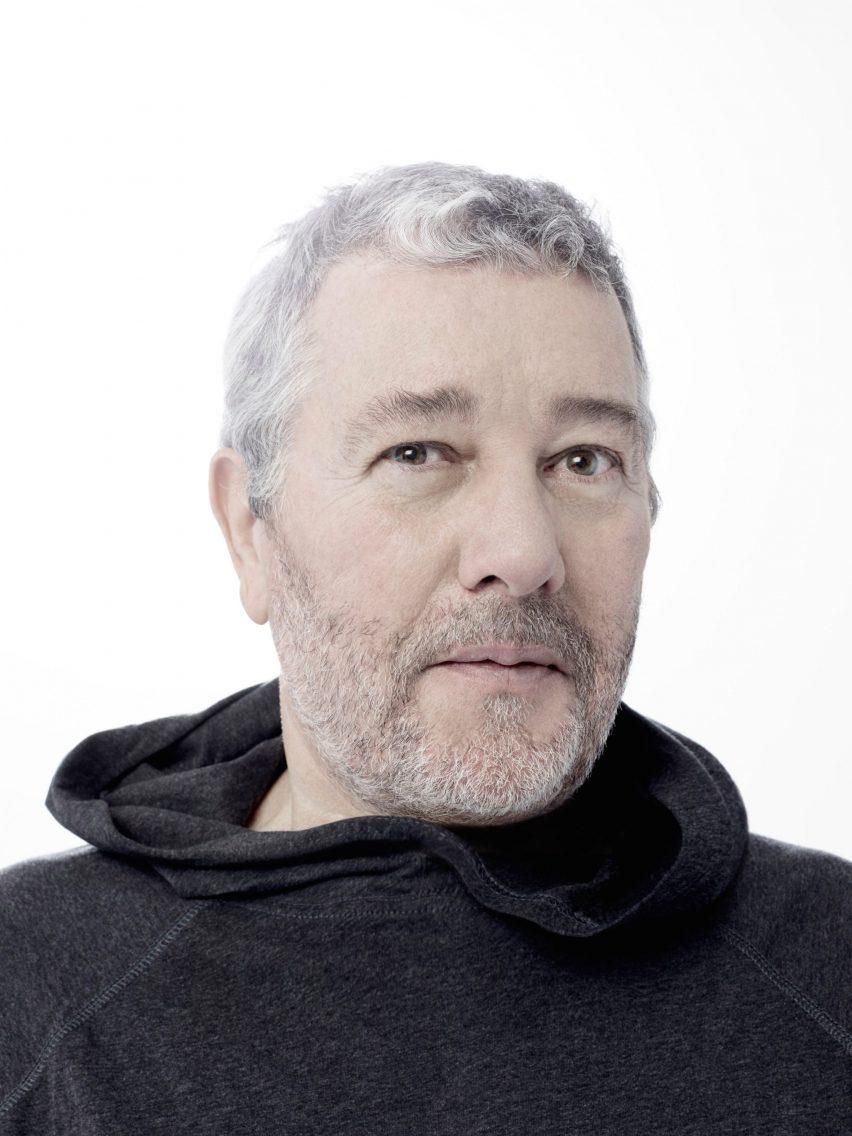 Headshot of Philippe Stark in a black hoody