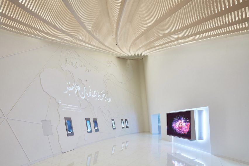Gallery inside the pavilion