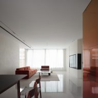 Minimalist living room in Chinese apartment