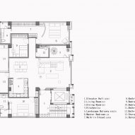 Floor plan of Red Box home by AD Architecture