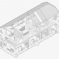 Redhill barn axonometric drawing