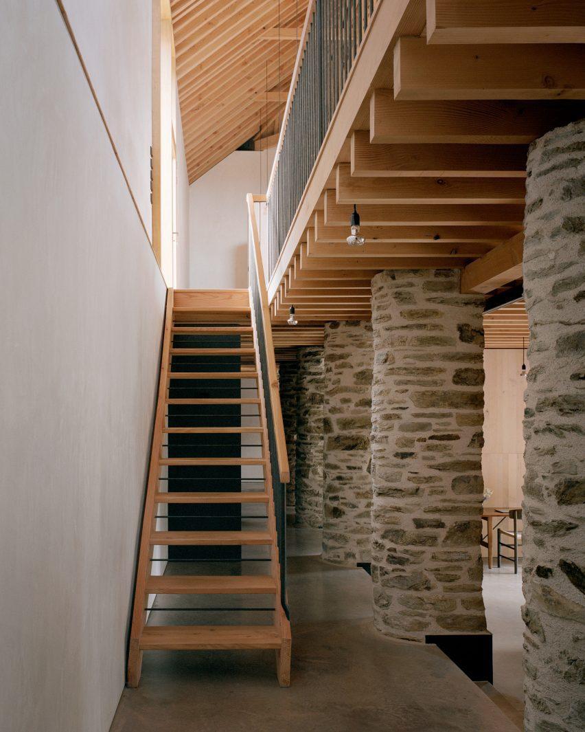 The interior of Redhill Barn