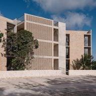 Riparia creates concrete Kokonut building in the Yucatán Peninsula