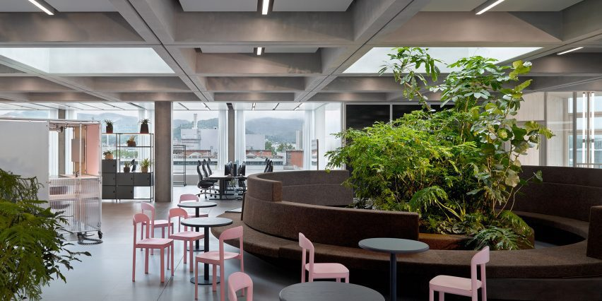 Forest Circle in Roche Multifunctional Workspace Building is the third building by Christ & Gantenbein