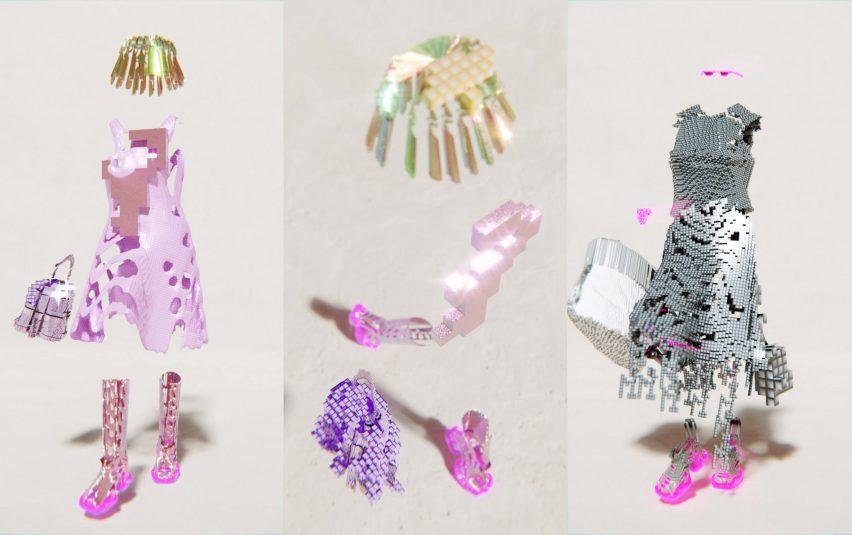 Абстрактные формы использовались для создания одежды