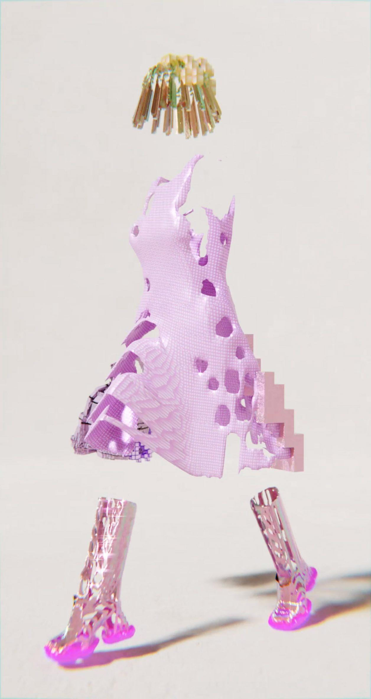 A pink dress by Santa Kupča