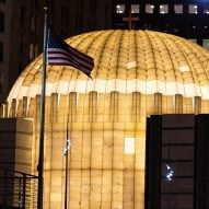 Santiago Calatrava's World Trade Center church illuminated for first time