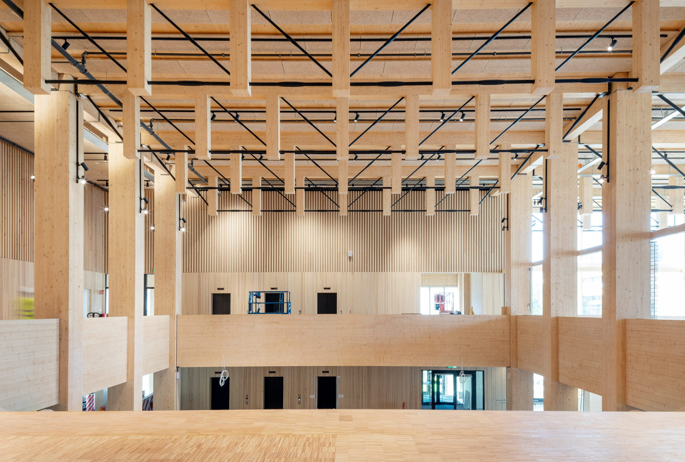 Glulam building in Sweden