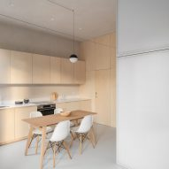 Kitchen and dining area inside Shoji Apartment by Proctor & Shaw