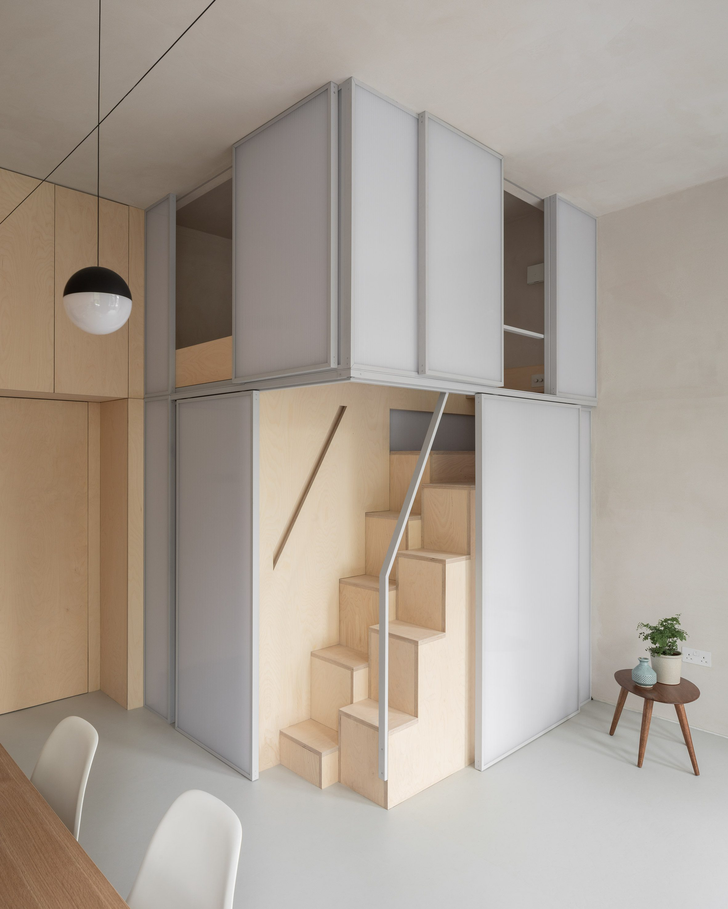 """Proctor and Shaw designs London micro-apartment with """"sleeping cocoon"""""""